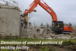 Demolition of unused portions of existing facility