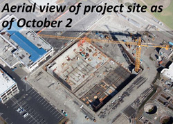 Aerial view of the project site as of October 2