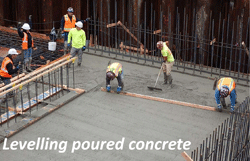 Levelling poured concrete