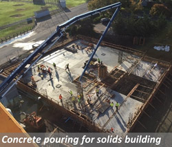 Concrete pouring for solids building