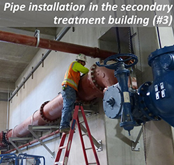 Pipe installation in the secondary treatment building (#3)