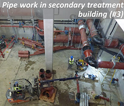 Pipe work in secondary treatment building (#3)