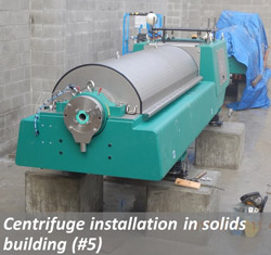 Centrifuge installation in solids building (#5)
