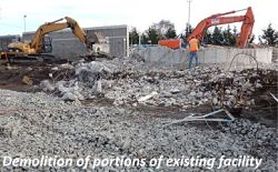 Demolition of portions of existing facility
