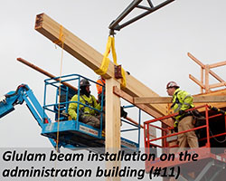 Glulam installation on the administration building (#11)