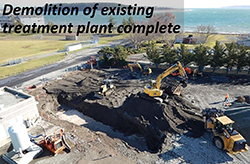 Demolition of existing treatment plant complete