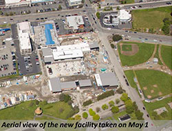 Aerial view of the nrew facility taken on May 1.