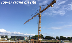 Tower crane on site