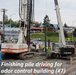 Finishing pile driving for odor control building (#7)