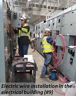 Electric wire installation in the electrical building(#9)