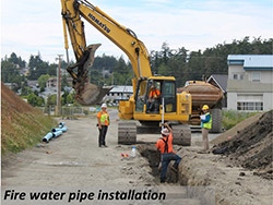 Fire water pipe installation