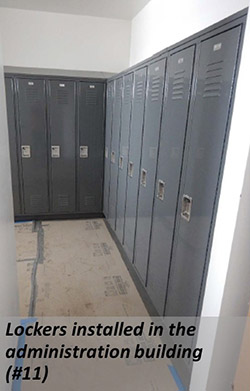 Lockers installed in the administration building (#11)