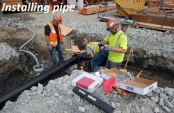 Installing pipe