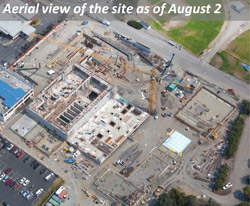 Aerial view of the site as of August 2