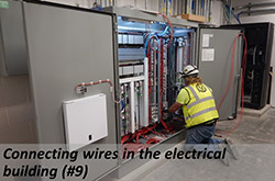 Connecting wires in the electrical building(#9)