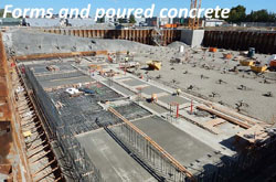 Forms and poured concrete