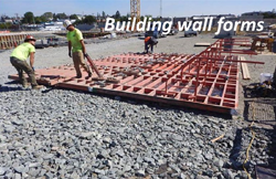 Building wall forms