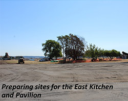Preparing sites for the East Kitchen and Pavilion