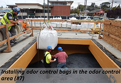 Installing odor control bags in the odor control area (#7)