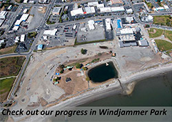 Check out progress in Windjammer Park
