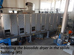 Installing the biosolids dryer in the solids building (#5)
